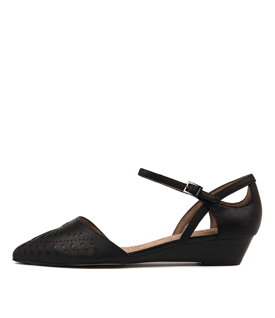 Buy Diana Ferrari Polonia Black Flats online with free shipping