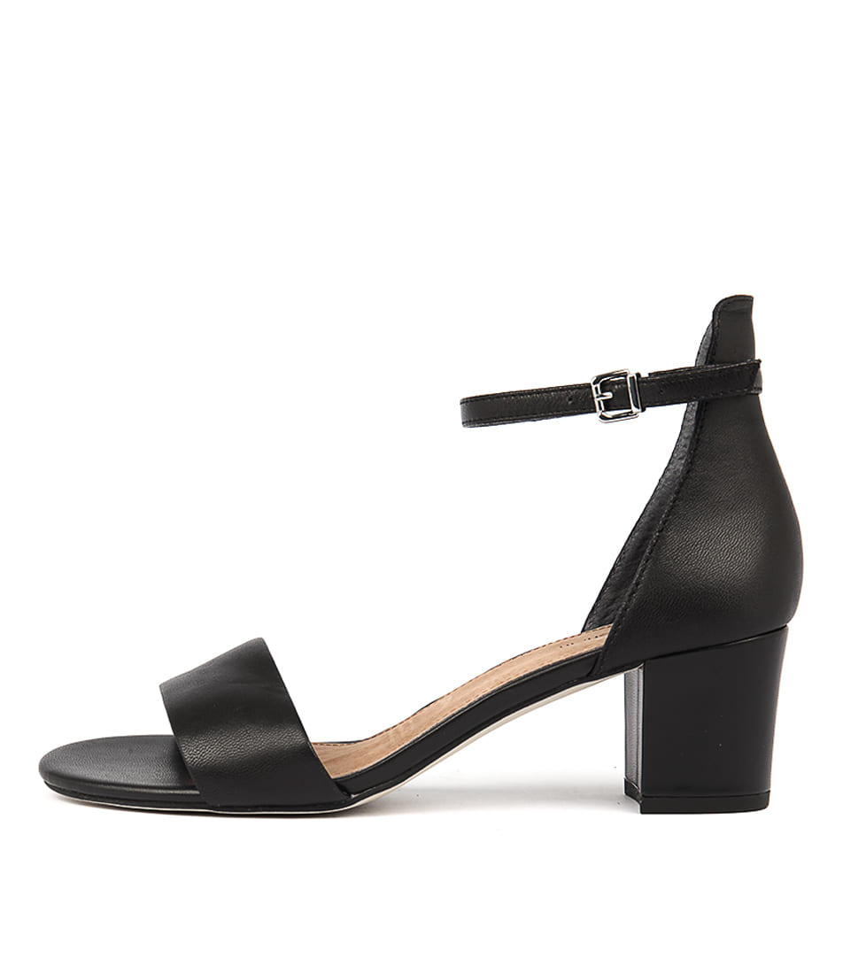 Buy Diana Ferrari Soco Black Heeled Sandals online with free shipping