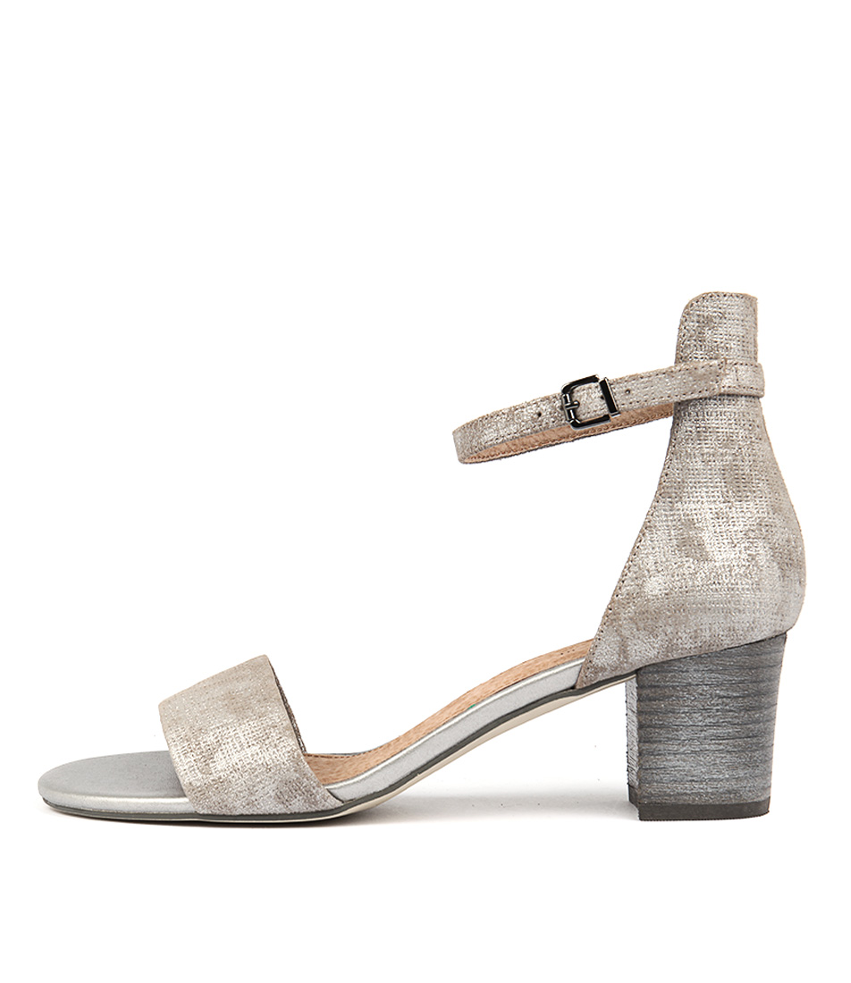 Diana Ferrari Soco Grey Casual Heeled Sandals
