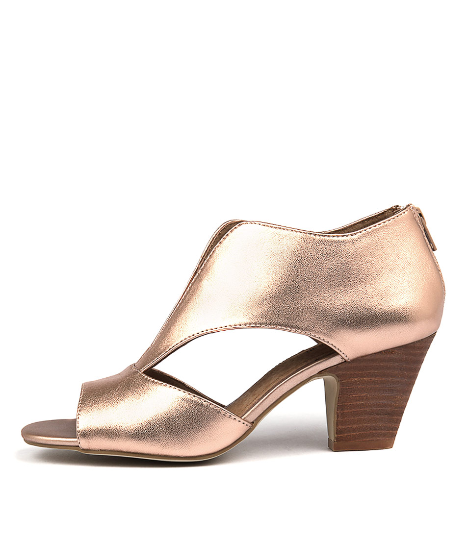Diana Ferrari Quip Rose Gold Heeled Sandals