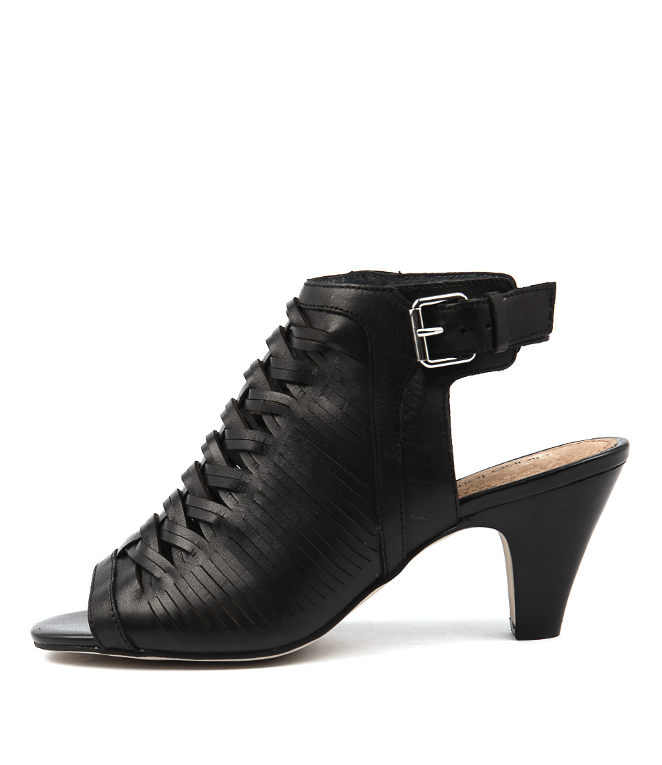 Diana Ferrari Regal Black Casual Heeled Sandals
