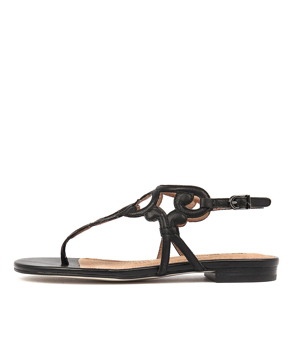 Diana Ferrari Koko Black Flat Sandals