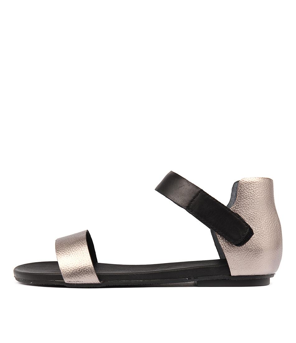 Diana Ferrari Latigo Gunmetal Black Sandals