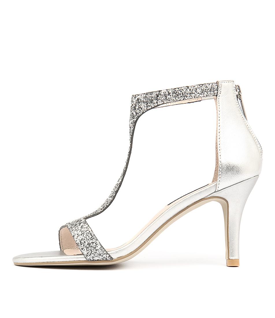 Diana Ferrari Carrin Silver Rough Gl Heeled Sandals