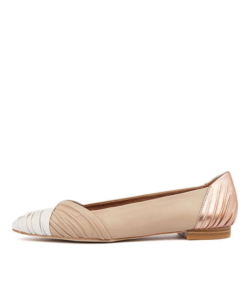 Diana Ferrari Crusoe Ivory Blush Ros Flat Shoes
