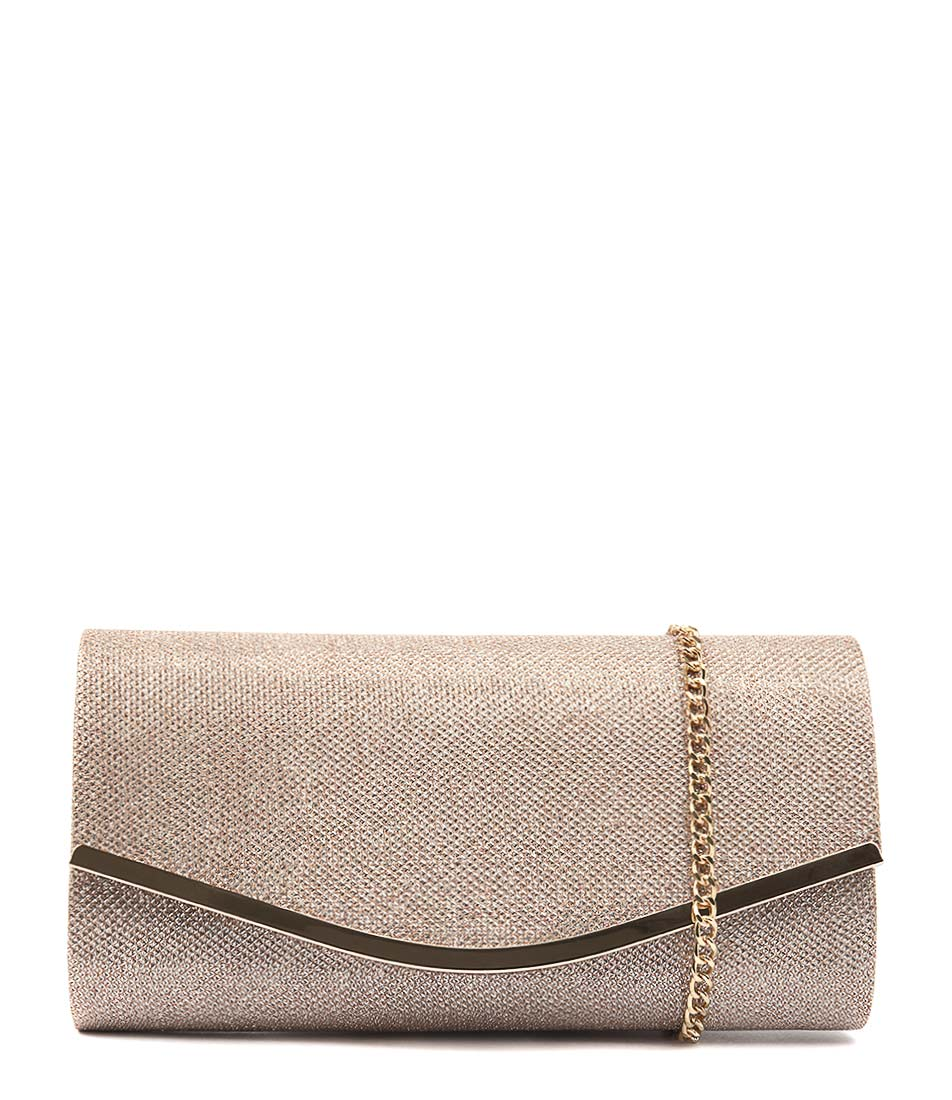 Diana Ferrari Giselle Clutch Rose Gold Clutch Bags