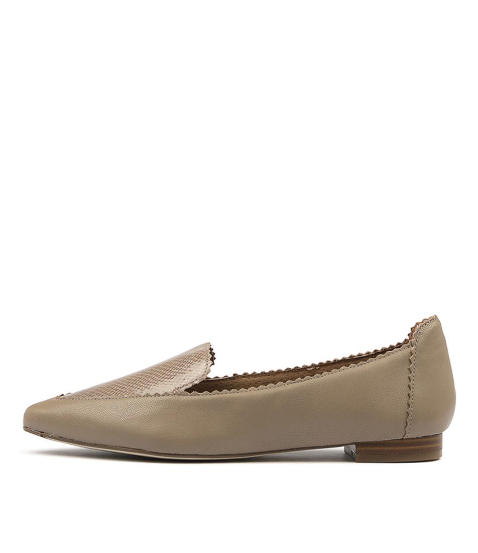 Diana Ferrari Cattee Mink Snake Flat Shoes