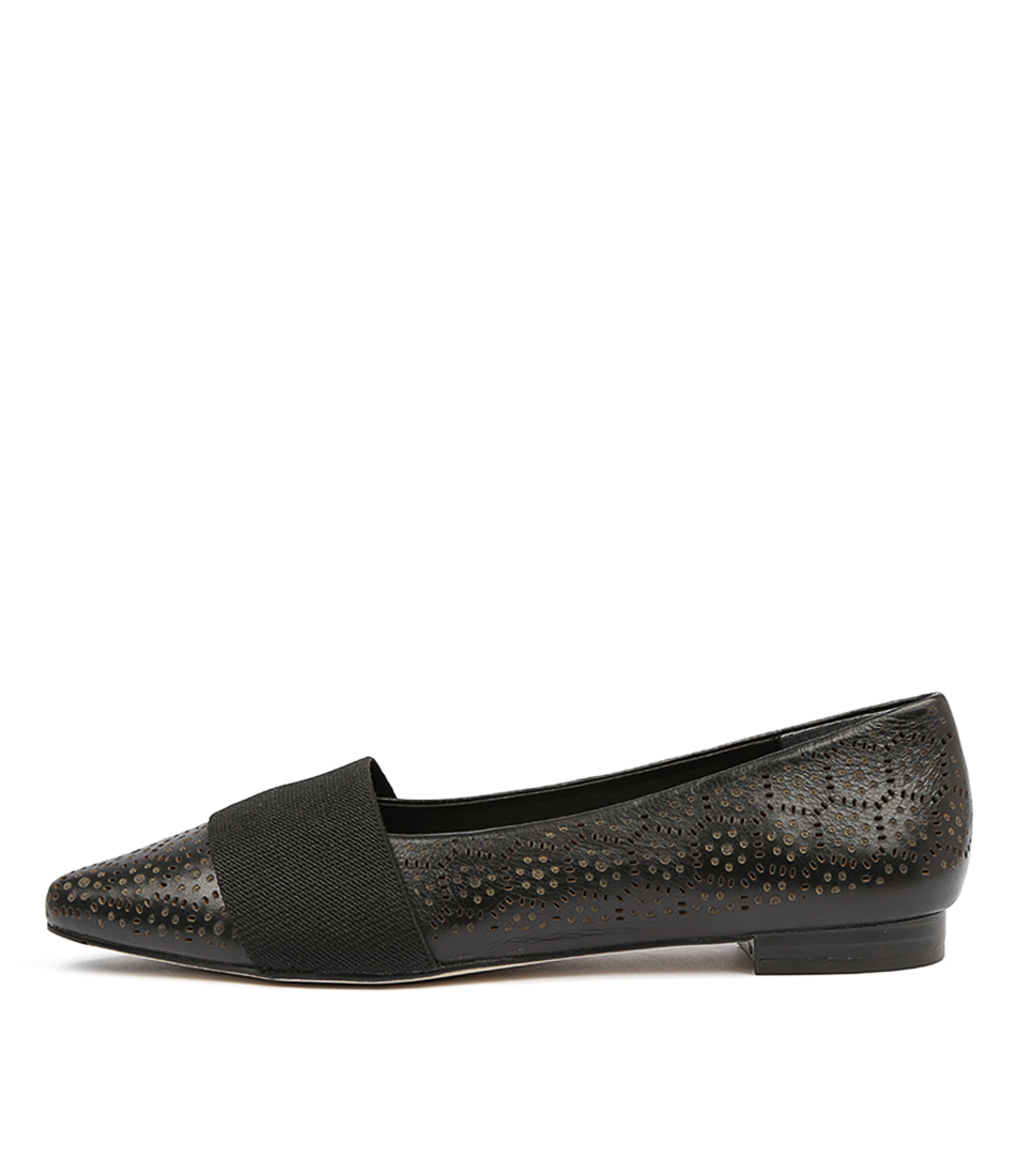 Buy Diana Ferrari Carousel2 Black Flats online with free shipping