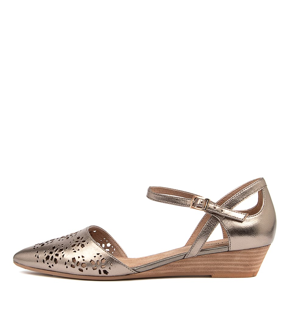 Buy Diana Ferrari Peonies Df Soft Gold Heeled Shoes online with free shipping