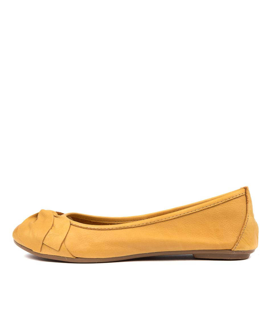 Buy Diana Ferrari Arille Df Ocre (Yellow) Flats online with free shipping