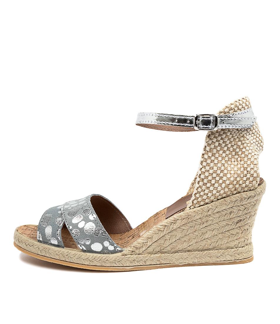 Buy Diana Ferrari Arnie Df Methanol (Grey) Silver Heeled Sandals online with free shipping