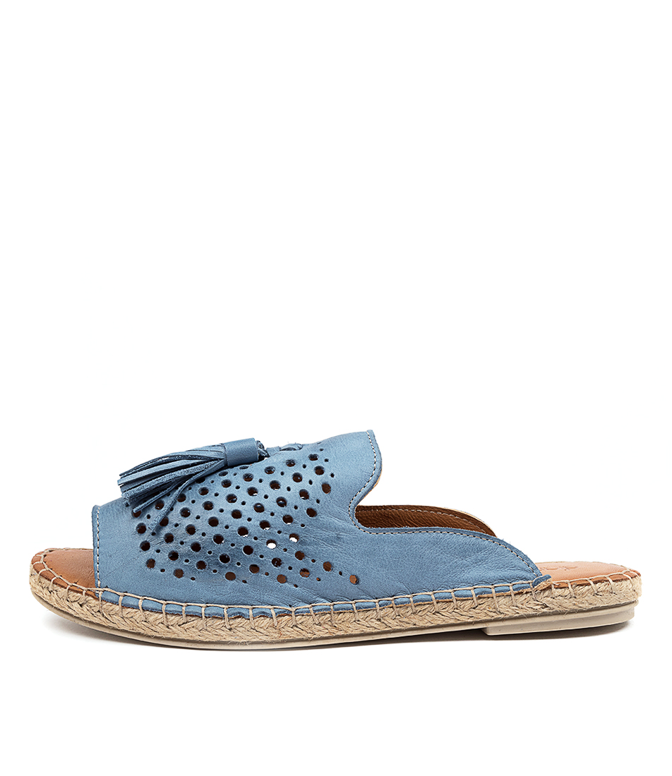 Buy Diana Ferrari Camara Df Jeans (Blue) Flat Sandals online with free shipping