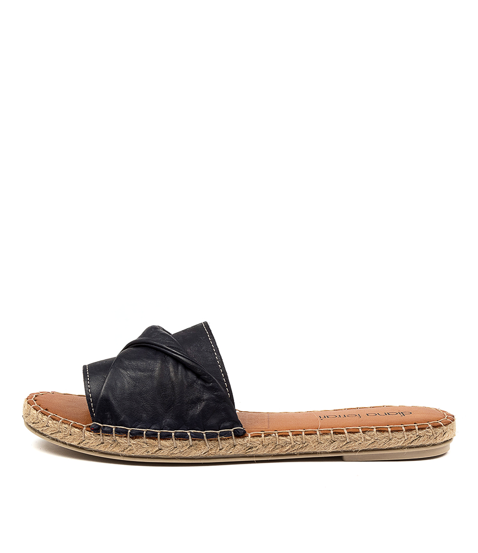 Buy Diana Ferrari Caville Df Navy Flat Sandals online with free shipping
