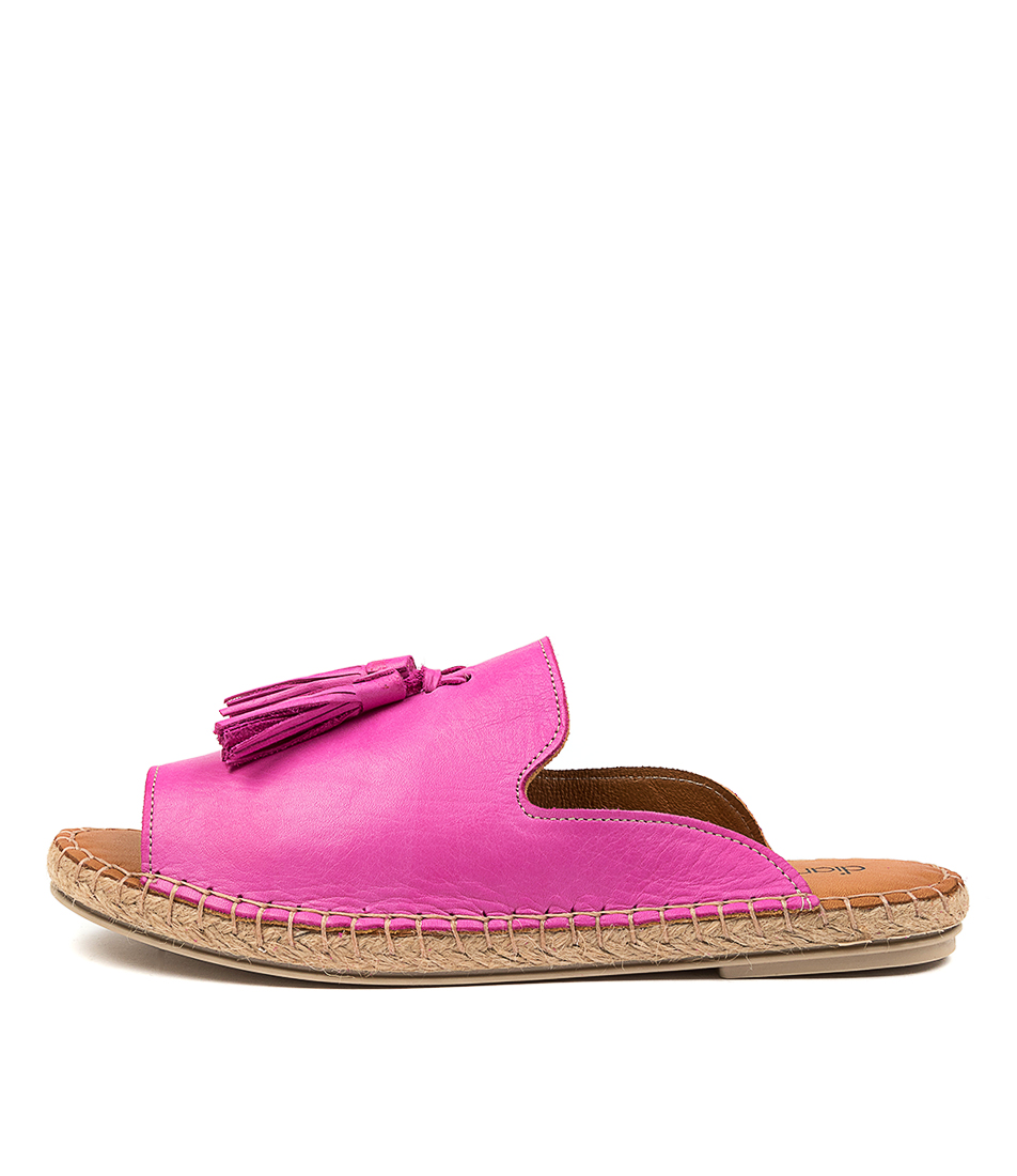 Buy Diana Ferrari Cryptic Df Fuchsia Flat Sandals online with free shipping
