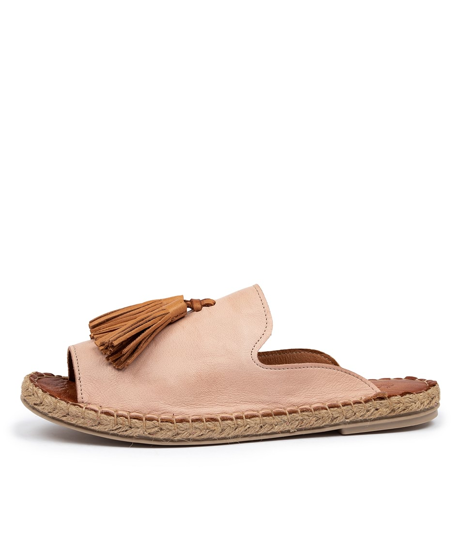 Buy Diana Ferrari Cryptic Df Nude Cuero (Tan) Flat Sandals online with free shipping