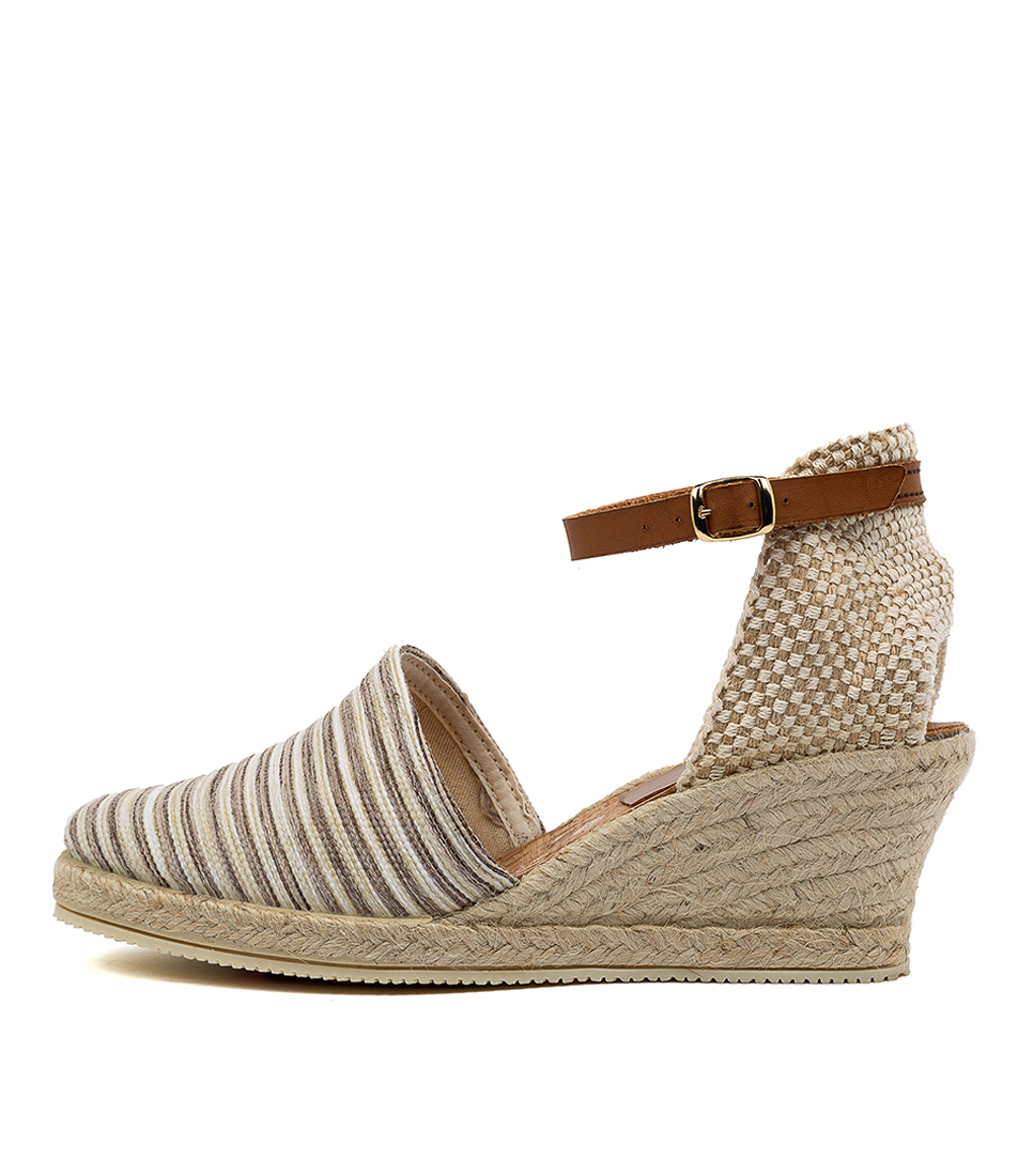 Buy Diana Ferrari Trey Df Beige Stripe High Heels online with free shipping