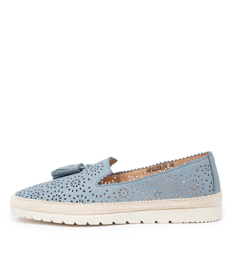 Buy Diana Ferrari Andaluse Df Powder Blue Flats online with free shipping