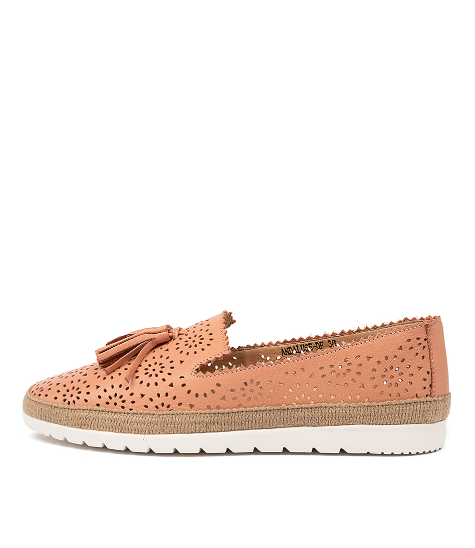 Buy Diana Ferrari Andaluse Df Cantaloupe Flats online with free shipping