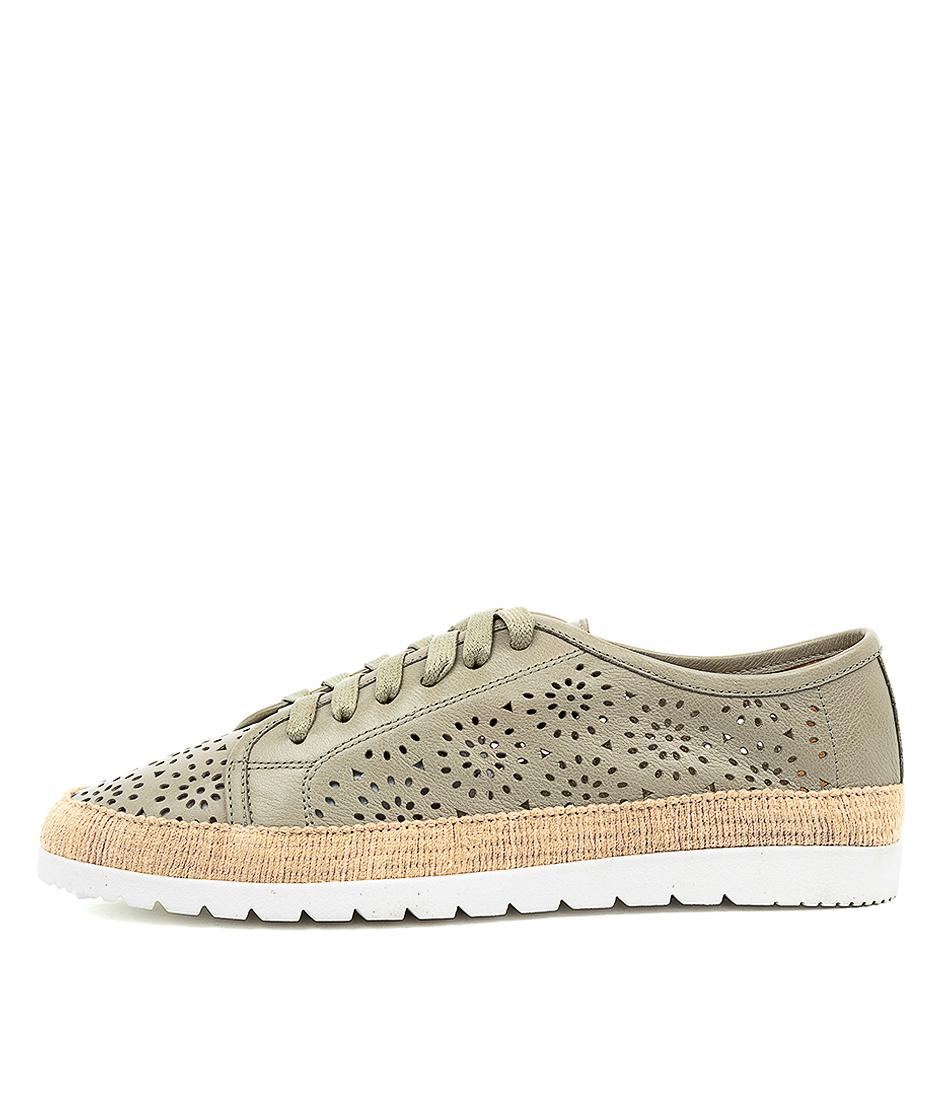 Buy Diana Ferrari Auburn Df Khaki Sneakers online with free shipping