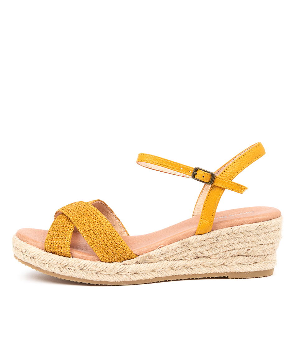 Buy Diana Ferrari Revie Df Mustard Heeled Sandals online with free shipping