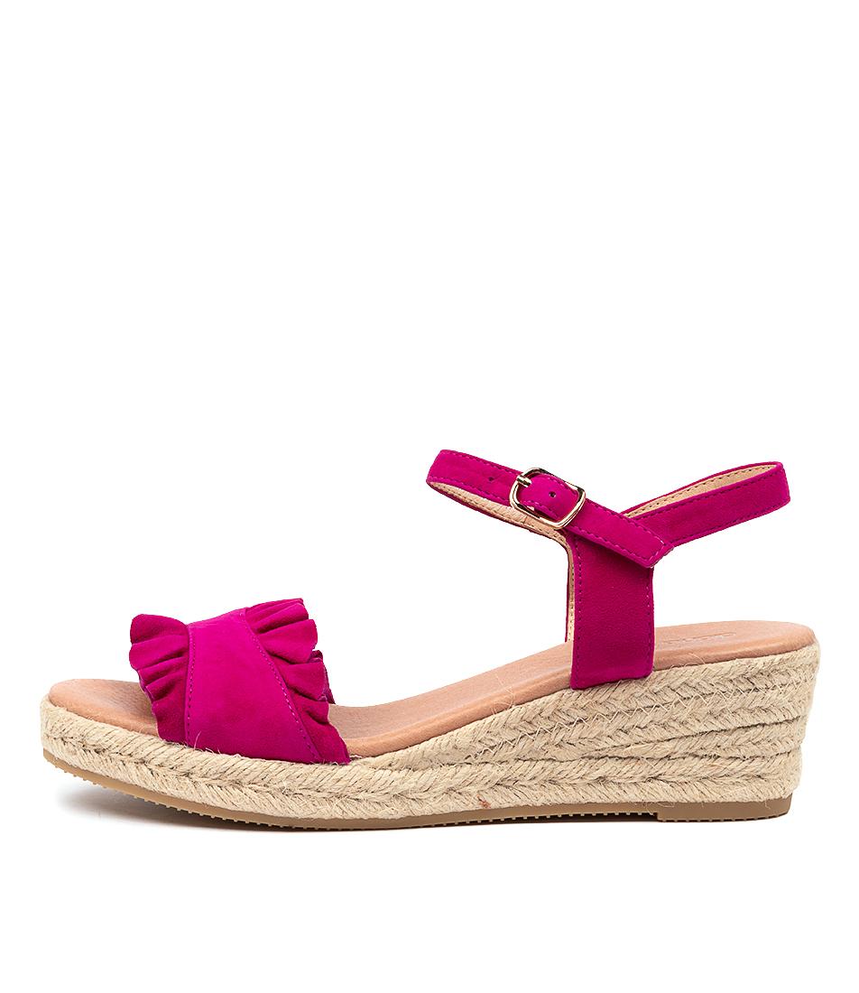 Buy Diana Ferrari Rida Df Magenta Heeled Sandals online with free shipping