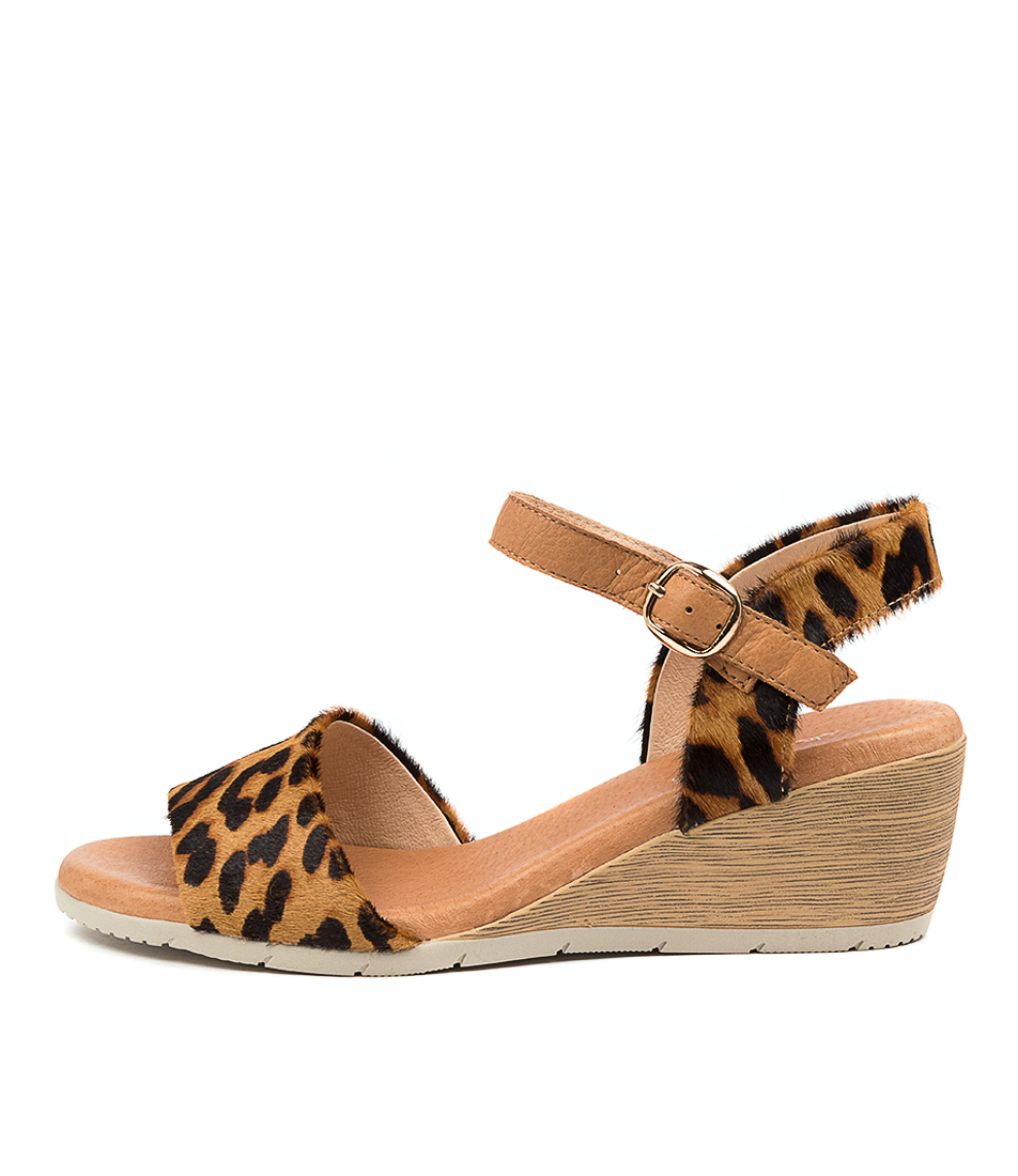 Buy Diana Ferrari Xaida Df Leopard Dk Tan Heeled Sandals online with free shipping