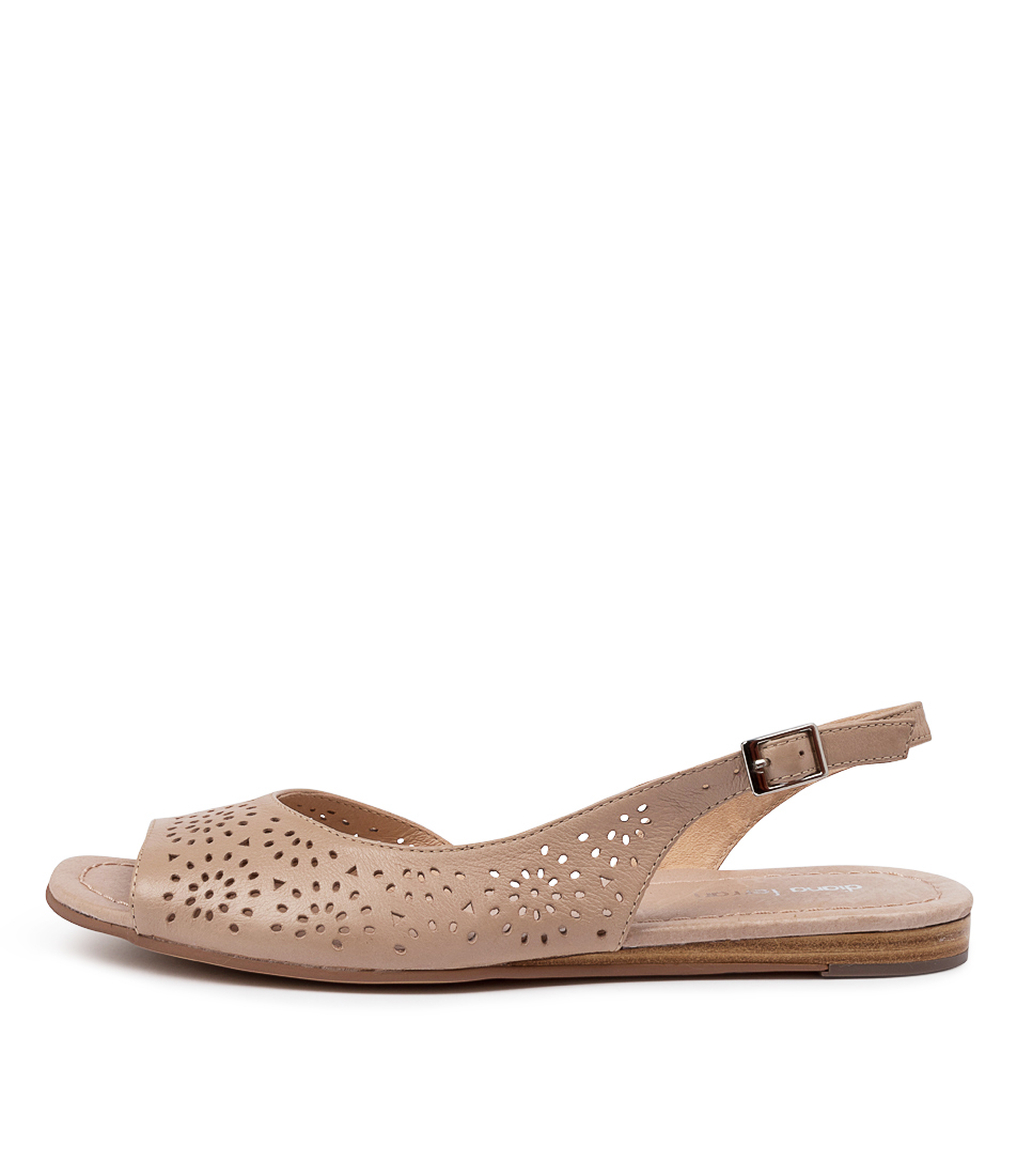 Buy Diana Ferrari Yesenia Df Latte Flat Sandals online with free shipping
