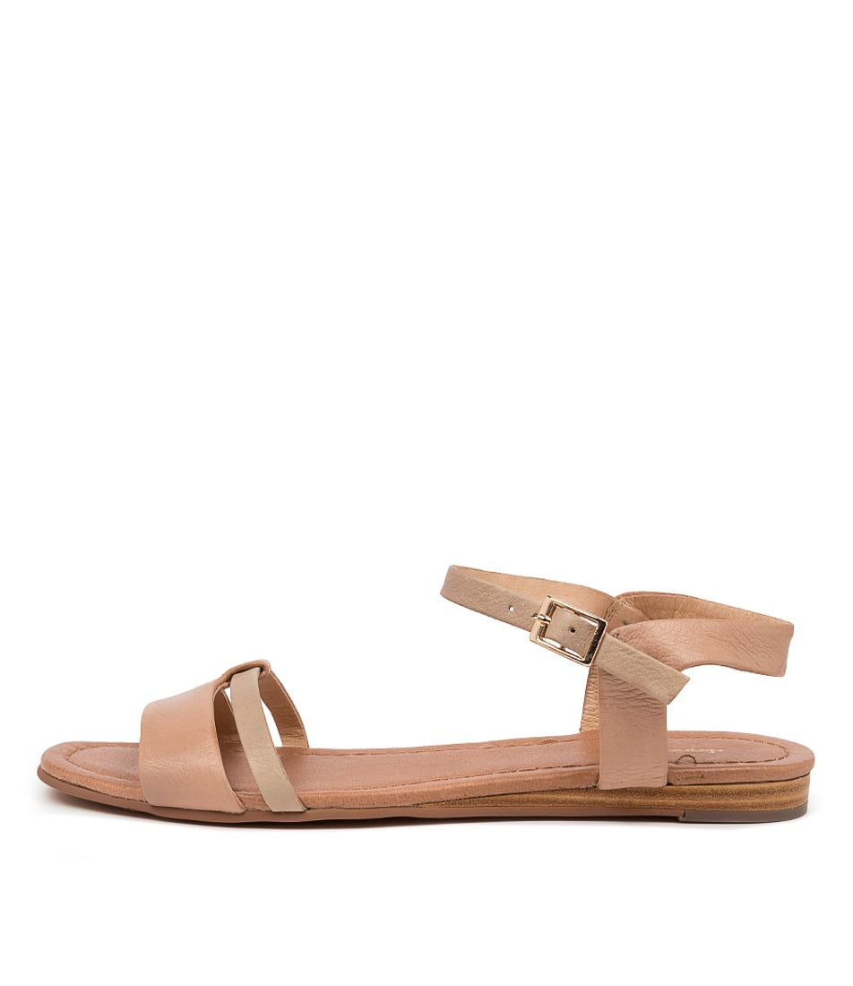 Buy Diana Ferrari Yaizu Df Dk Nude Taupe Flat Sandals online with free shipping