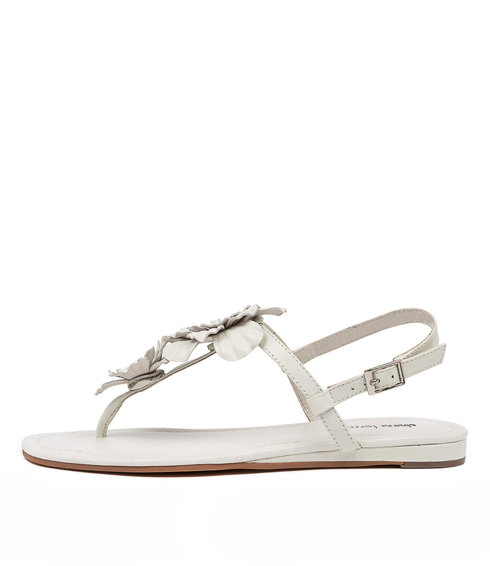 Buy Diana Ferrari Yazmine Df Ivory Flat Sandals online with free shipping