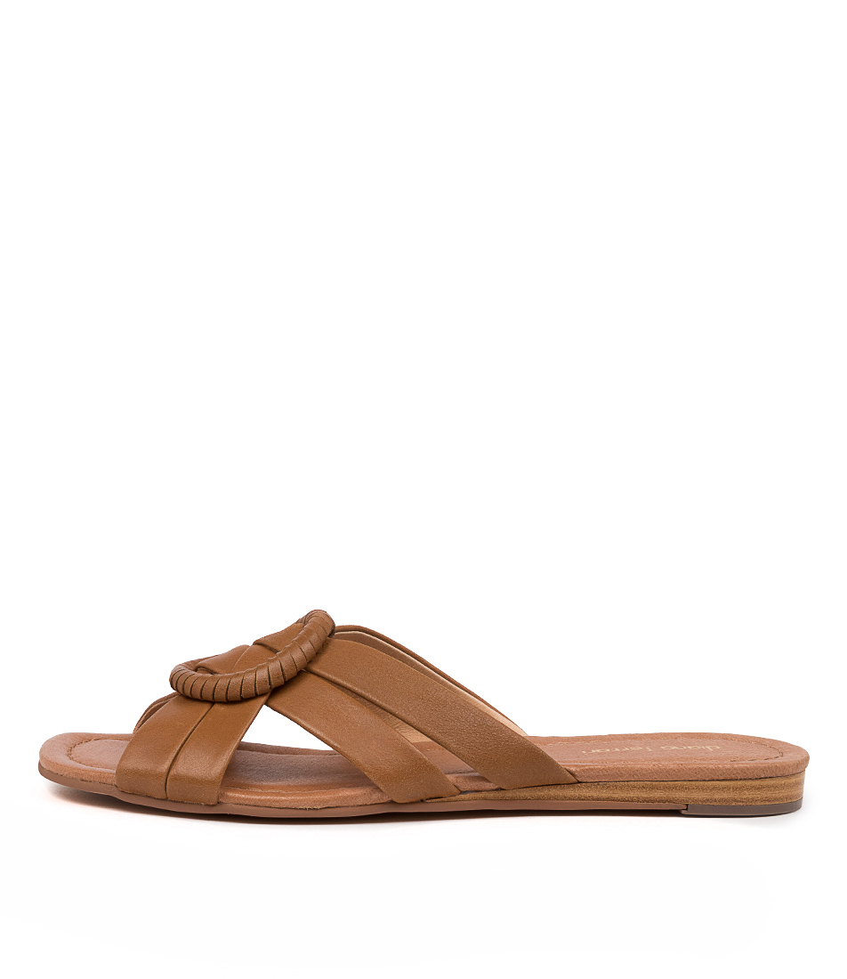 Buy Diana Ferrari Yulee Df Tan Flat Sandals online with free shipping