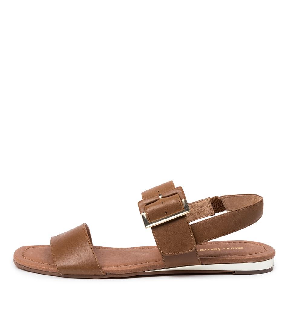 Buy Diana Ferrari Zenia Df Tan Flat Sandals online with free shipping
