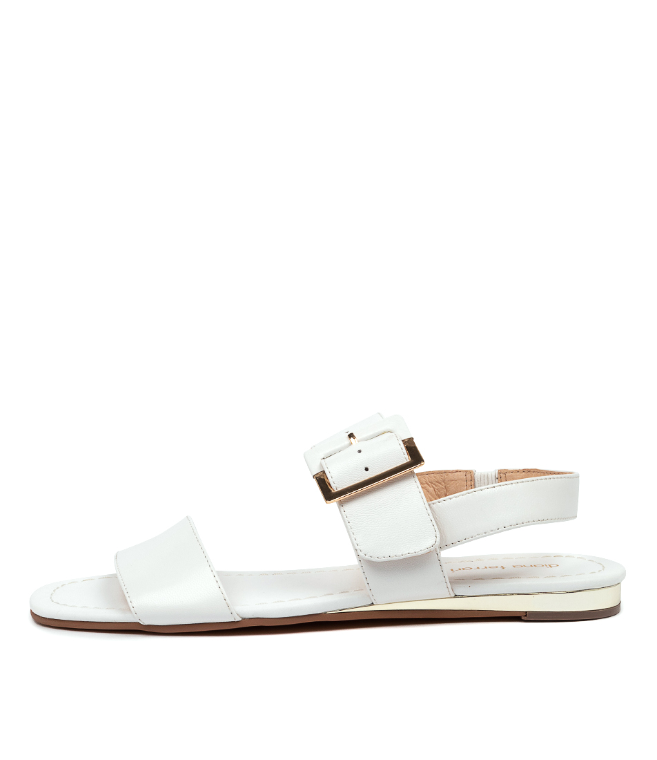 Buy Diana Ferrari Zenia Df White Flat Sandals online with free shipping
