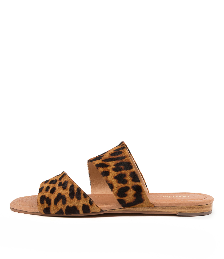 Buy Diana Ferrari Yellah Df Leopard Flat Sandals online with free shipping