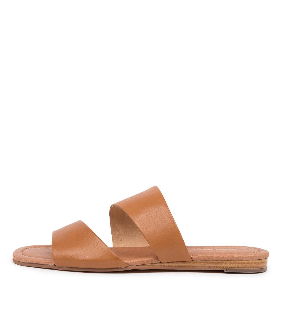 Buy Diana Ferrari Yellah Df Dk Tan Flat Sandals online with free shipping