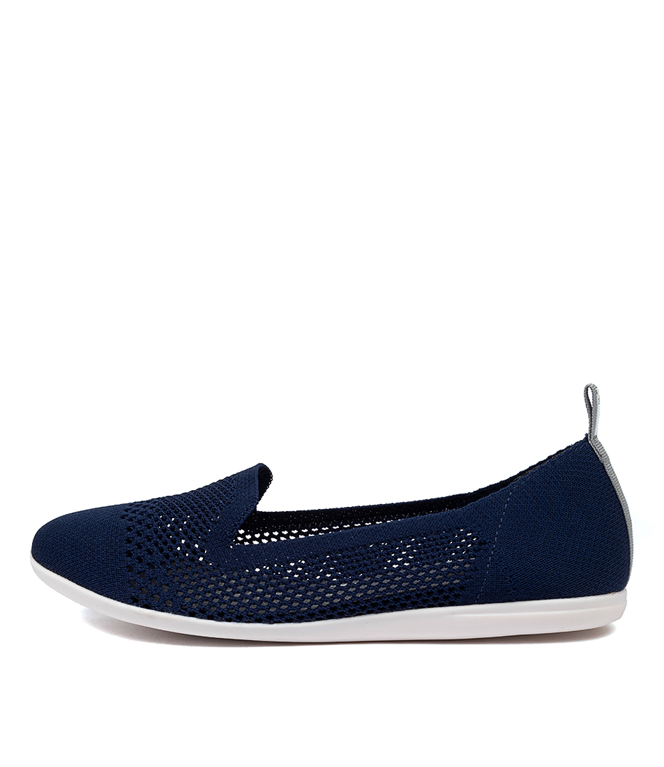 Buy Diana Ferrari Aitken Df Navy Flats online with free shipping