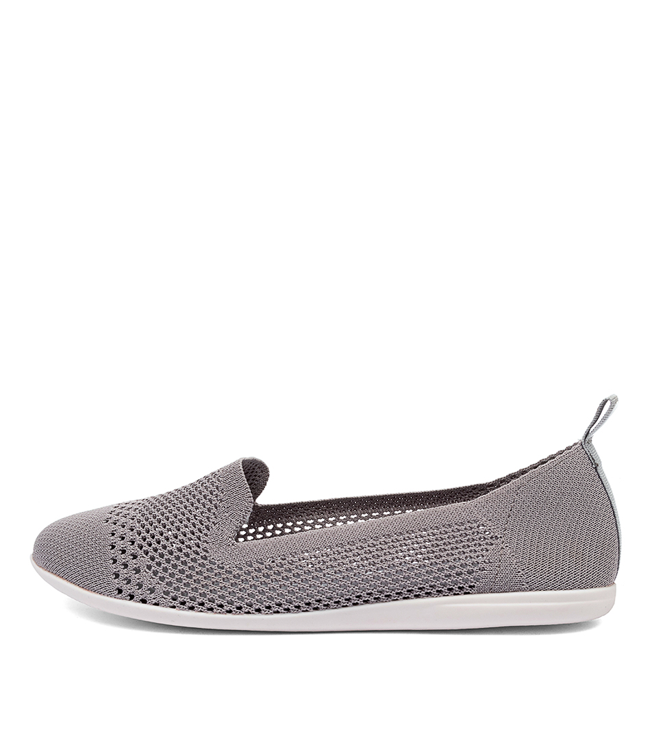 Buy Diana Ferrari Aitken Df Grey Flats online with free shipping