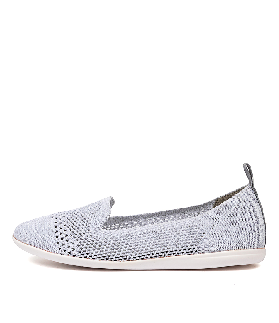 Buy Diana Ferrari Aitken Df White Silver Flats online with free shipping