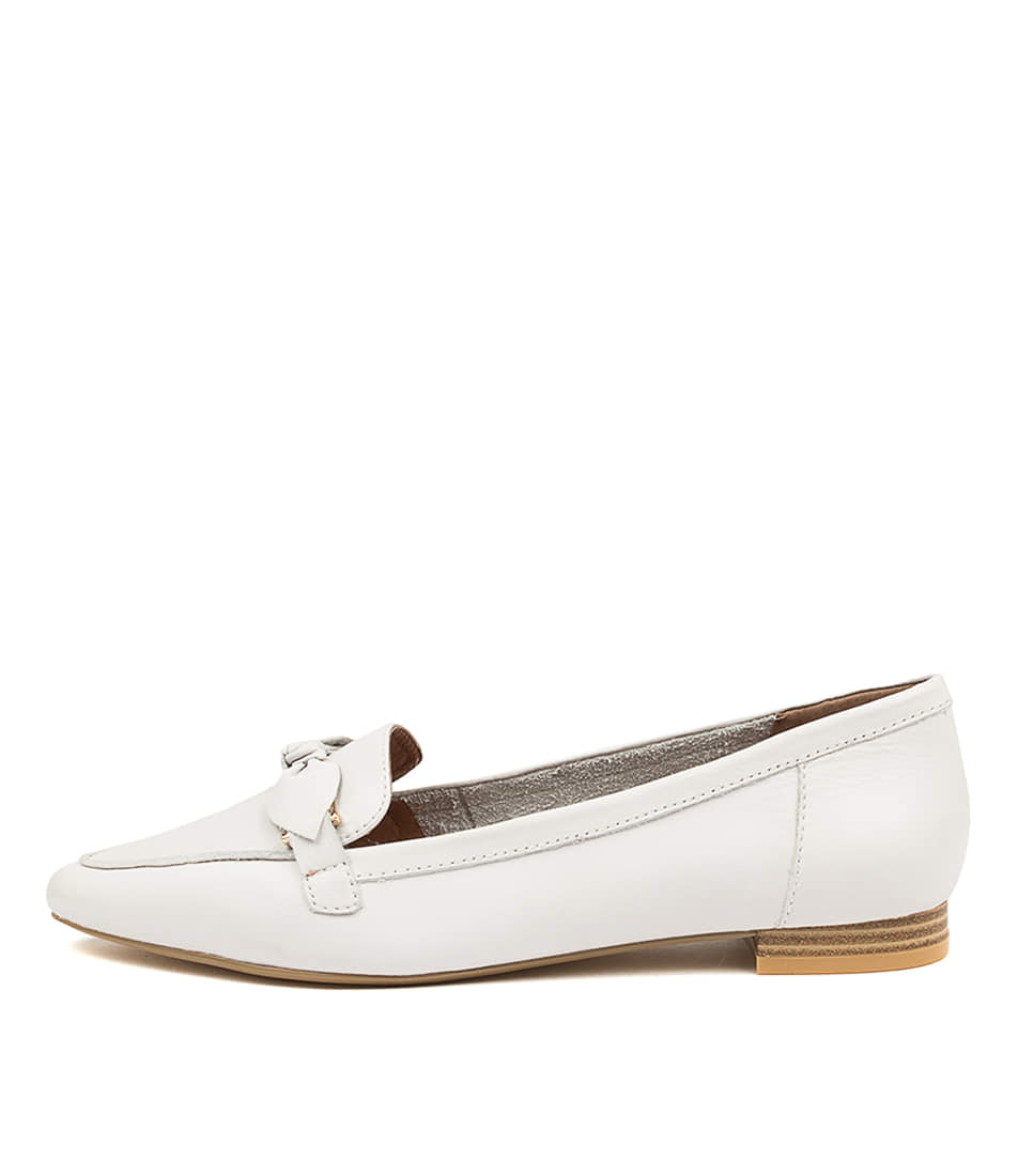 Buy Diana Ferrari Campari Df White Flats online with free shipping