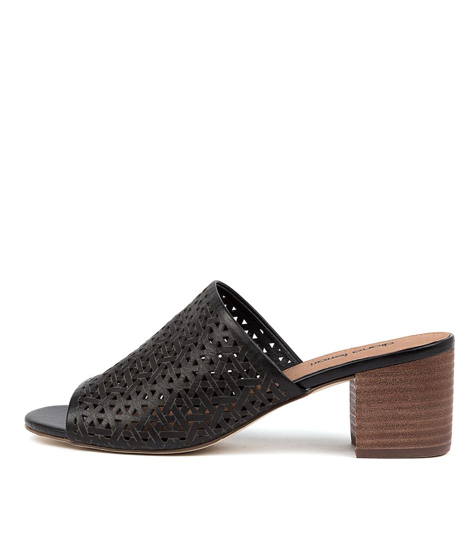 Buy Diana Ferrari Abiya Df Black E Heeled Sandals online with free shipping