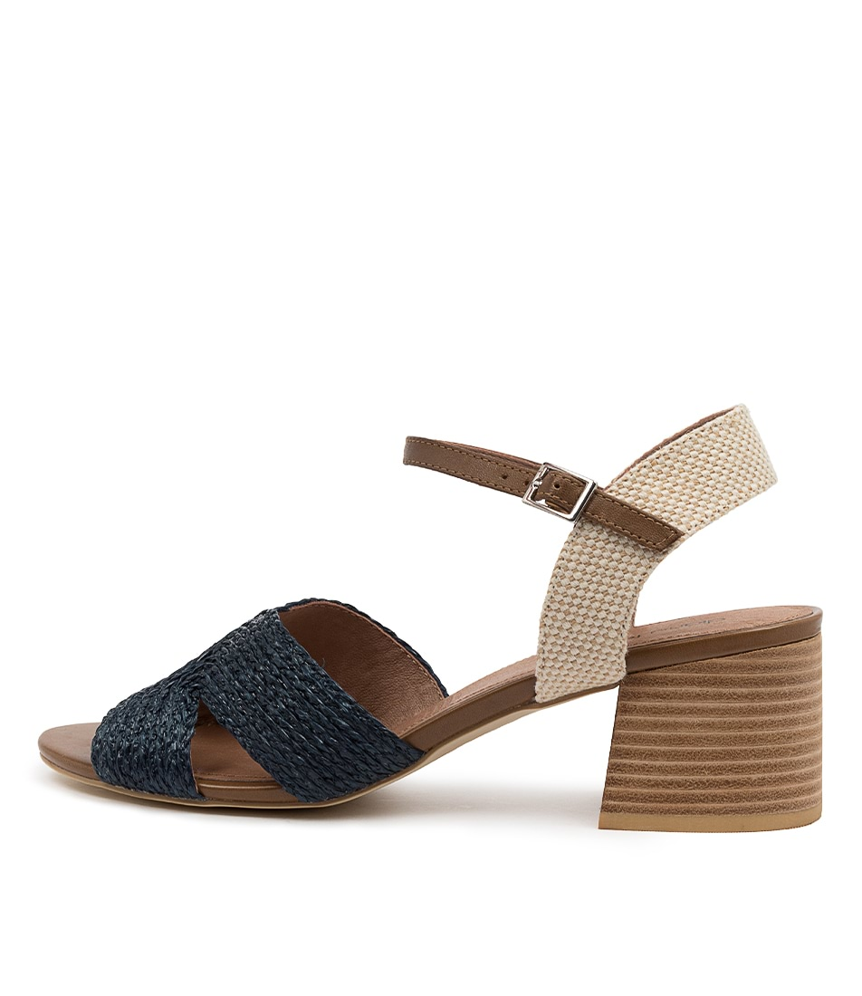 Buy Diana Ferrari Baker Df Navy Woven Multi Heeled Sandals online with free shipping