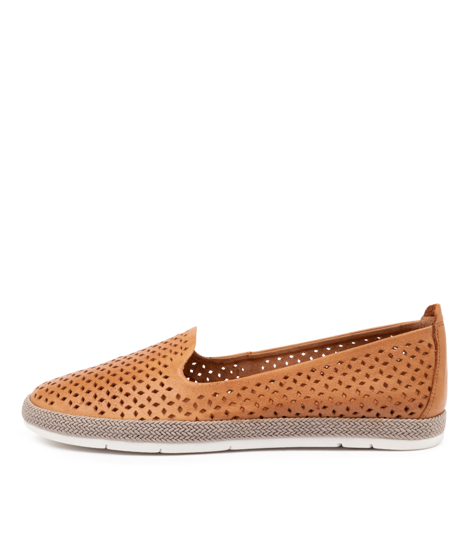 Buy Diana Ferrari Cora Df Tan Flats online with free shipping
