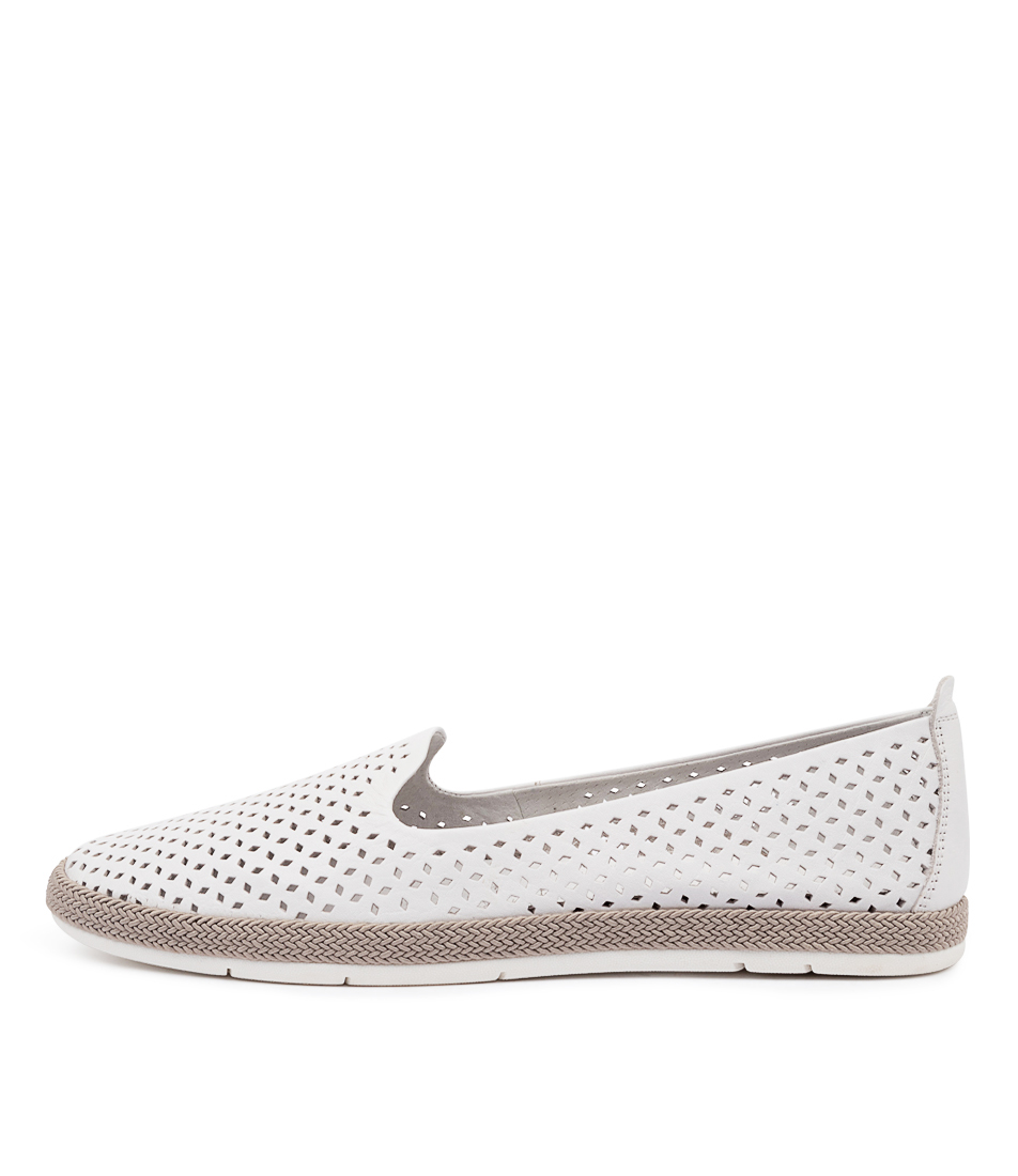 Buy Diana Ferrari Cora Df White Flats online with free shipping