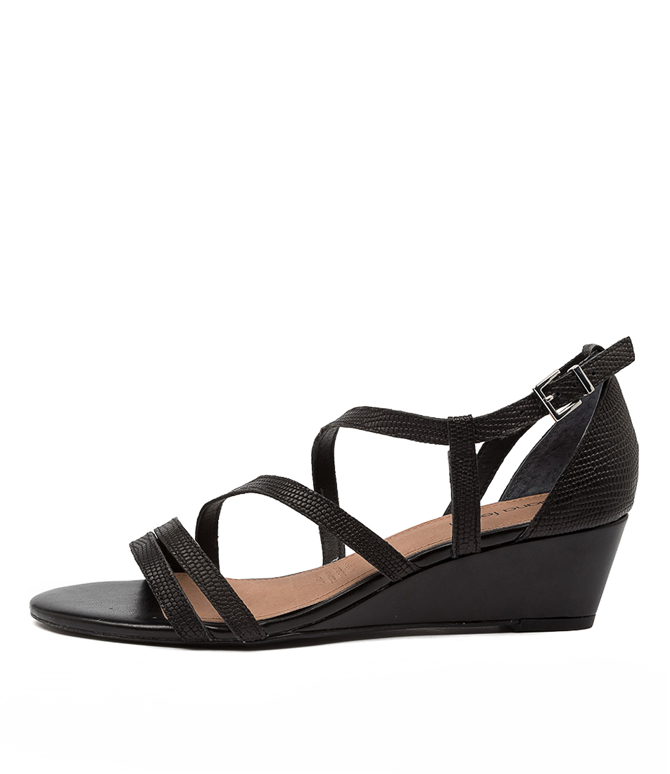 Buy Diana Ferrari Dianca Df Black E Heeled Sandals online with free shipping