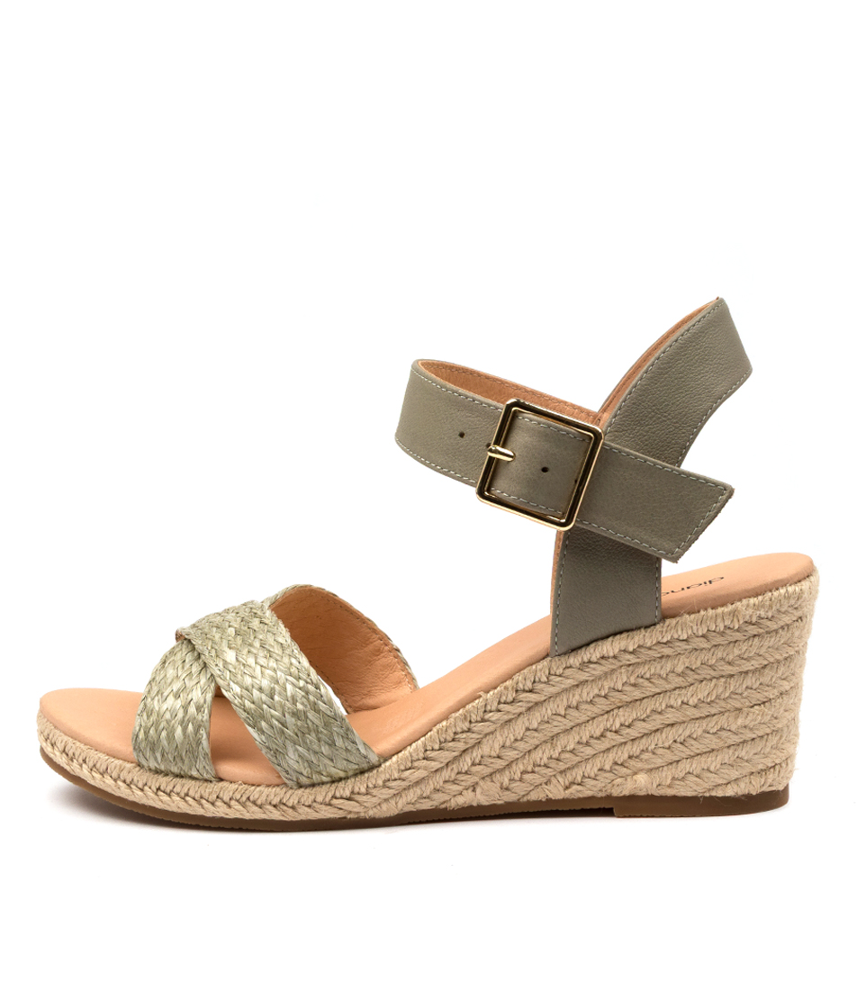 Buy Diana Ferrari Jaylessa Df Khaki Khaki Heeled Sandals online with free shipping