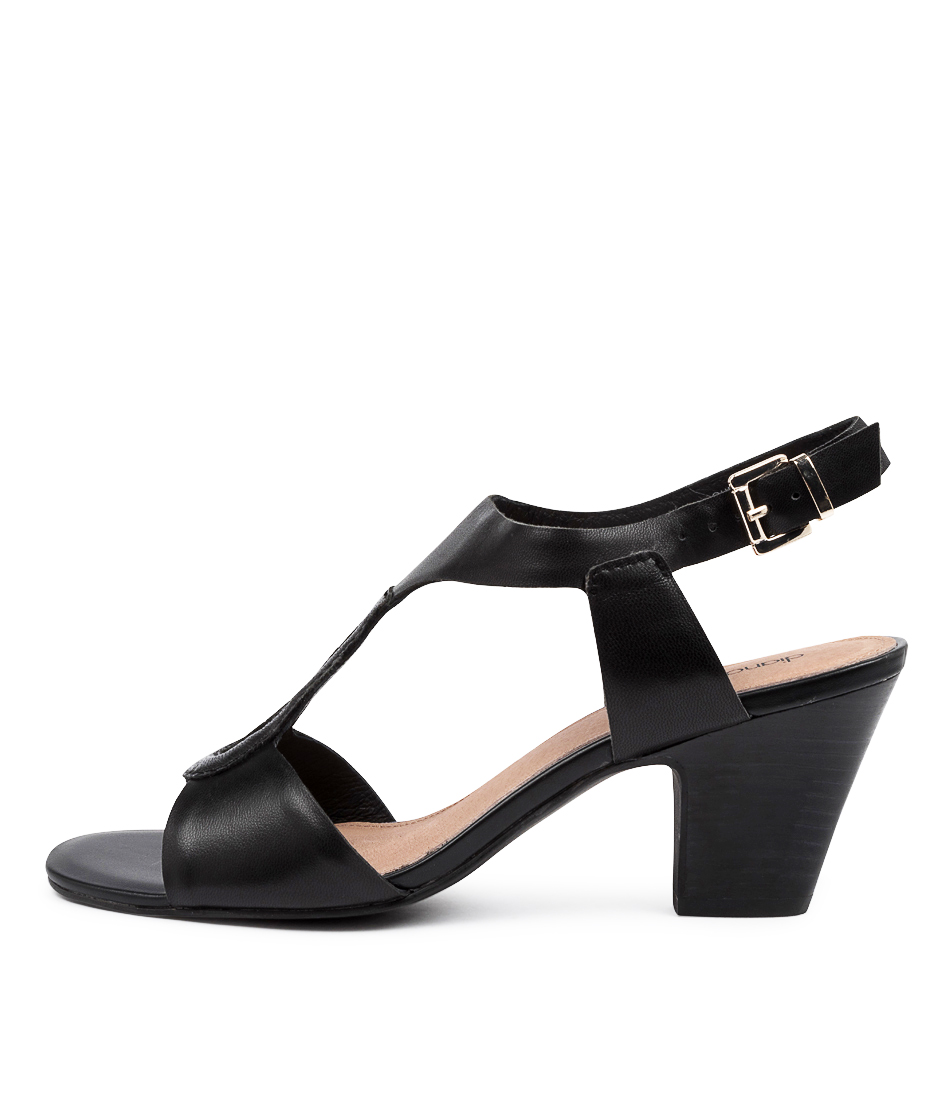 Buy Diana Ferrari Quenbee Df Black Heeled Sandals online with free shipping