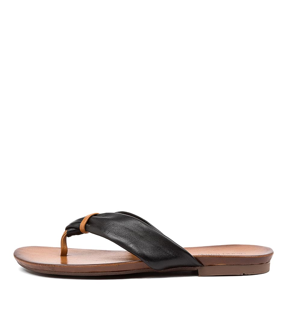 Buy Diana Ferrari Rafa Df Black Mustard Flat Sandals online with free shipping