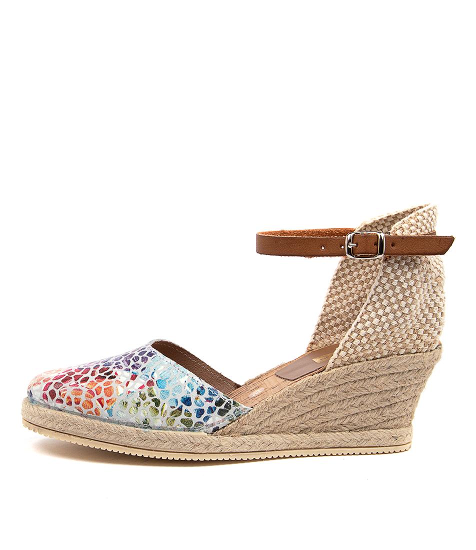 Buy Diana Ferrari Tishwa Df White Mosaic Heeled Sandals online with free shipping