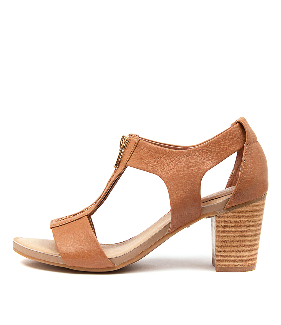 Buy Diana Ferrari Tarlee Df Tan Heeled Sandals online with free shipping