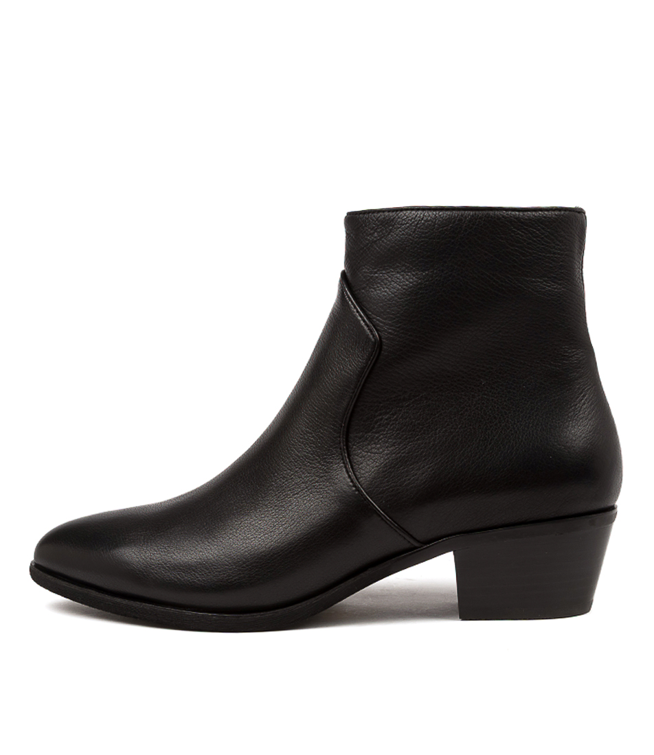 Buy Diana Ferrari Akule Df Black Black Heel Ankle Boots online with free shipping