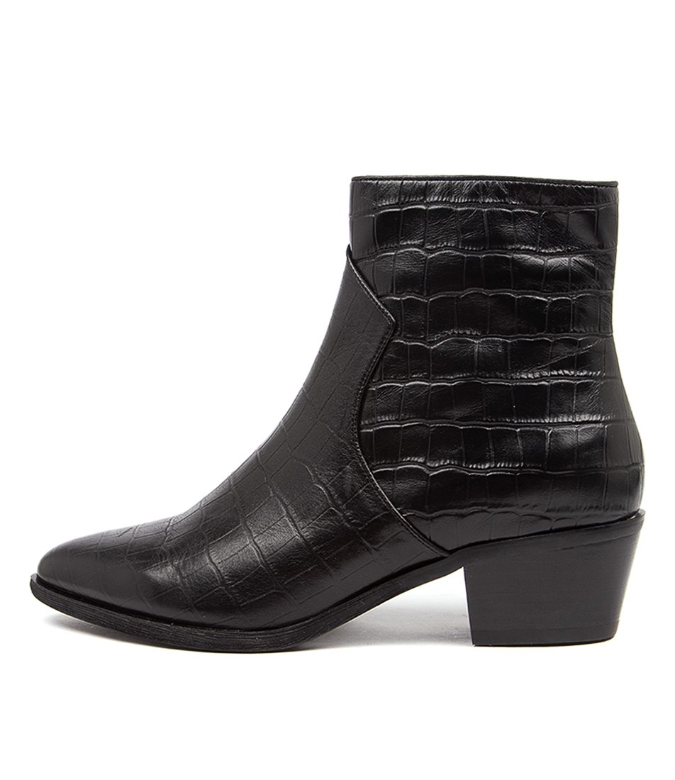 Buy Diana Ferrari Akule Df Black Ankle Boots online with free shipping